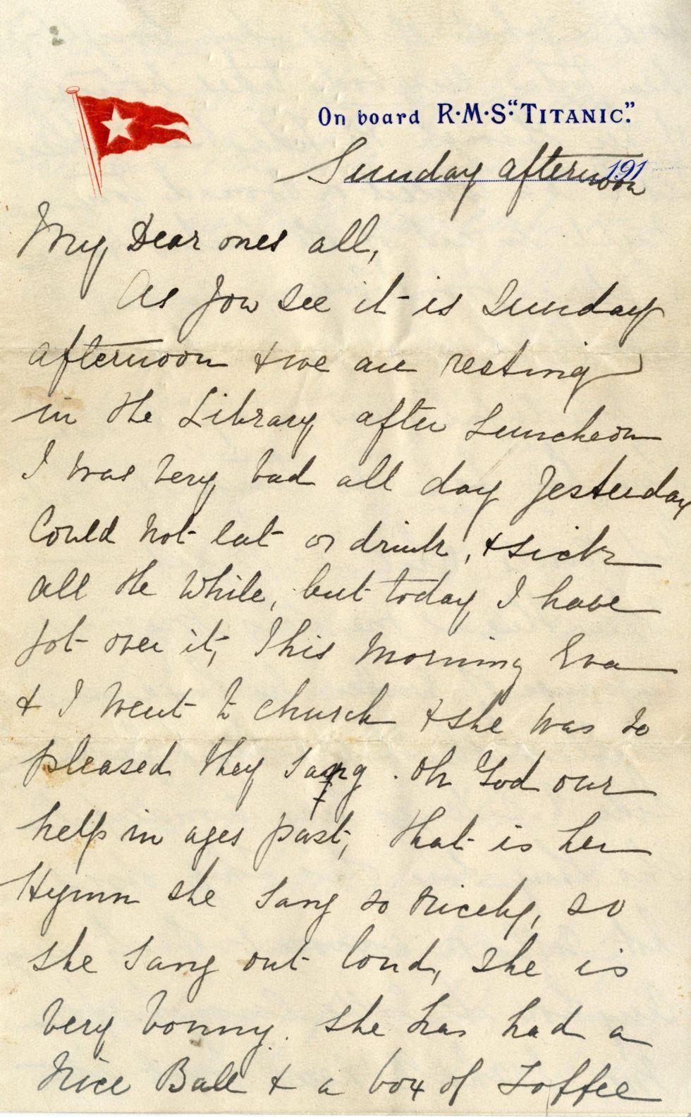 Titanic, 145 mila euro per una lettera scritta a bordo