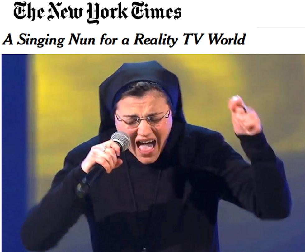 The Voice 2, Suor Cristina conquista la prima pagina del New York Times