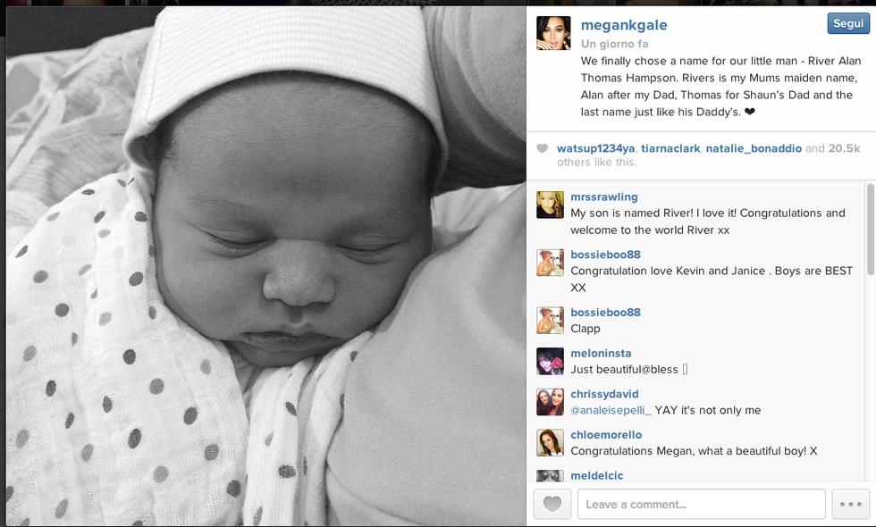 Megan Gale mamma: è nato River