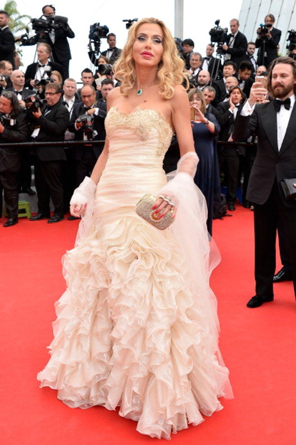 Valeria Marini e Giovanni Cottone a Cannes, ma da separati