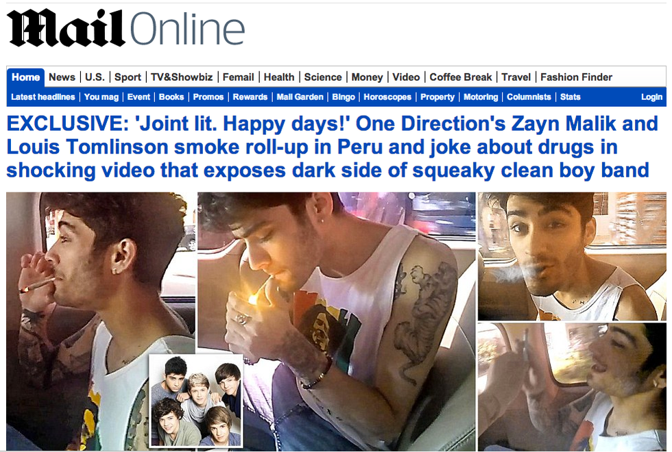 One Direction bad guys come Justin Bieber?