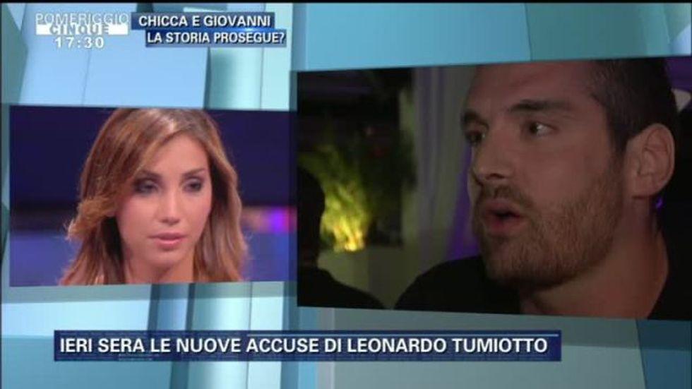 Grande Fratello 13, ancora scintille tra Chicca e l'ex Leonardo Tumiotto