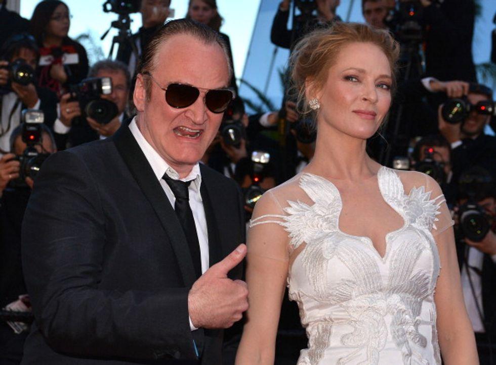 Uma Thurman-Quentin Tarantino, ecco il bacio