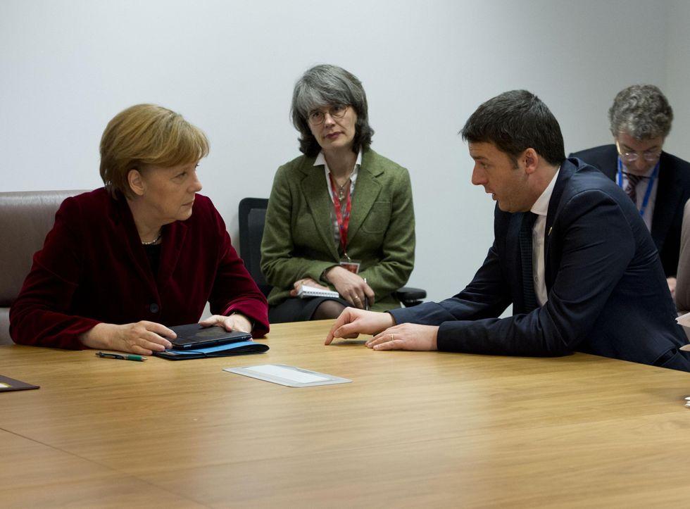 Renzi, Merkel e il rapporto deficit/pil da cambiare