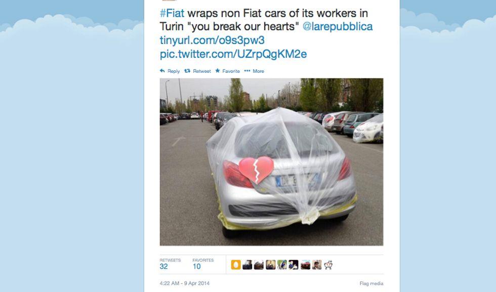 E Fiat impacchetta le auto (non Fiat) dei dipendenti