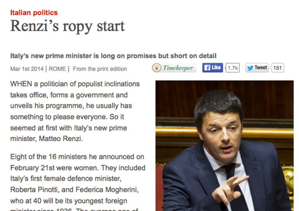 Economist e Renzi: cosa dice l'articolo che ha fatto notizia