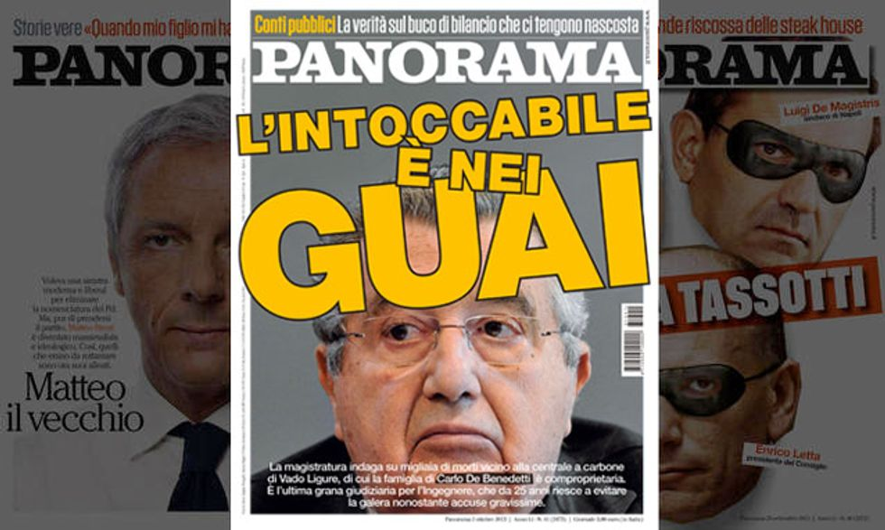 """Panorama: De Benedetti """"l'intoccabile"""" è nei guai"""