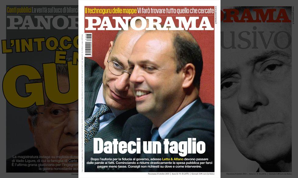 Panorama: Letta & Alfano, dateci un taglio