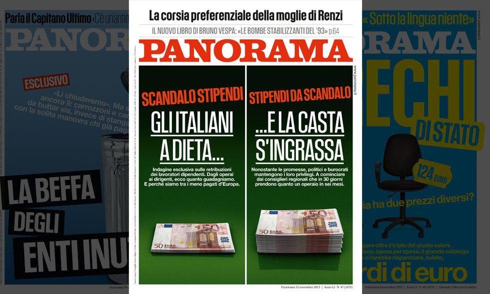 Panorama: gli stipendi grassi dei politici e quelli magri degli italiani