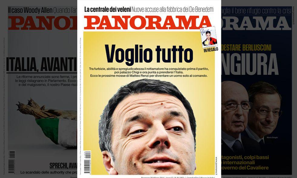 Renzi, voglio tutto