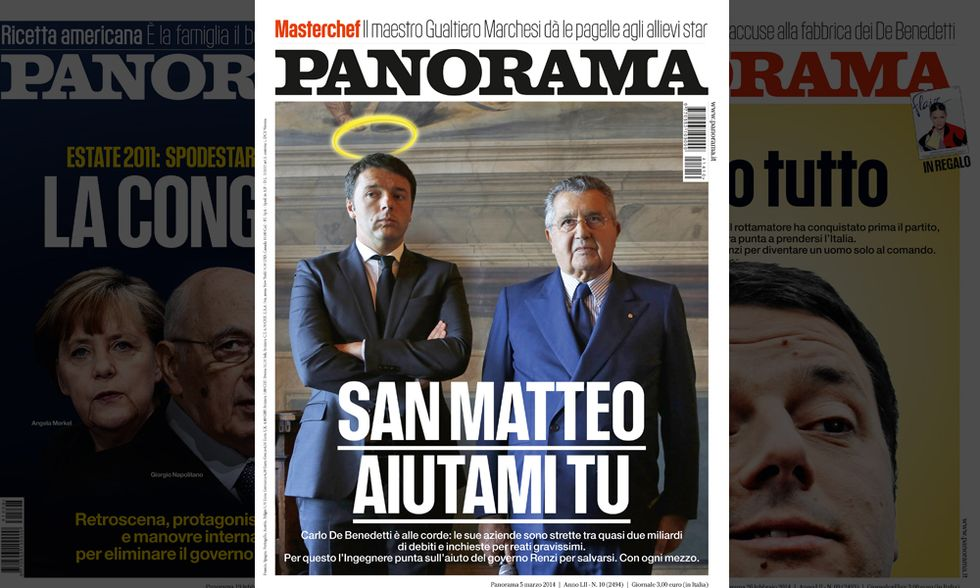 "De Benedetti si affida a ""San Matteo"" Renzi"