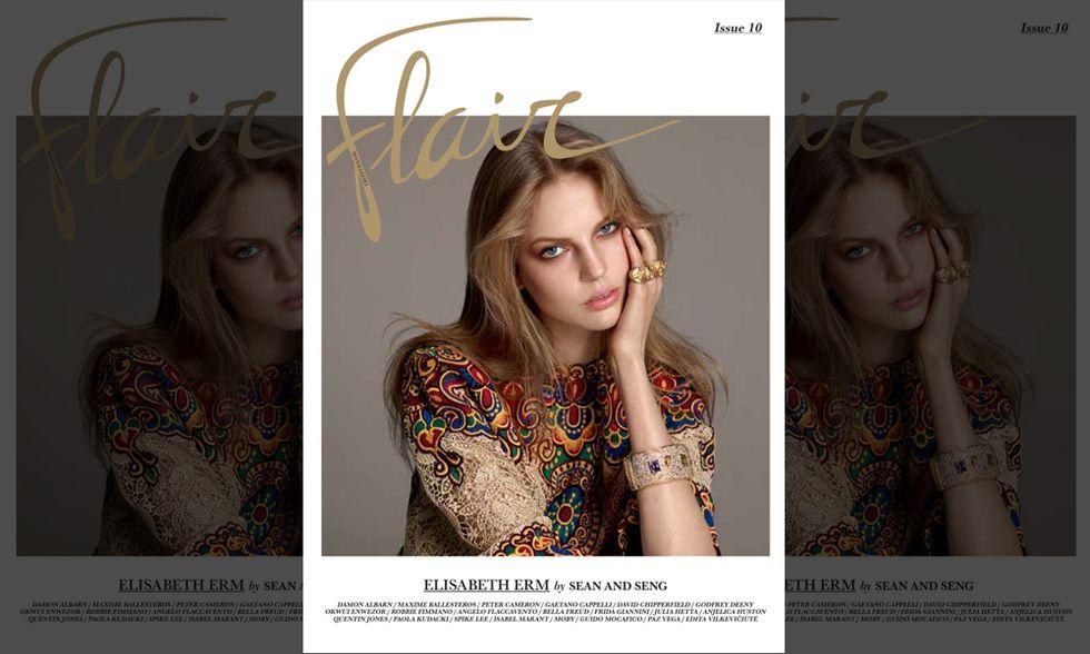 La top model Elisabeth Erm è la protagonista della copertina del nuovo Flair