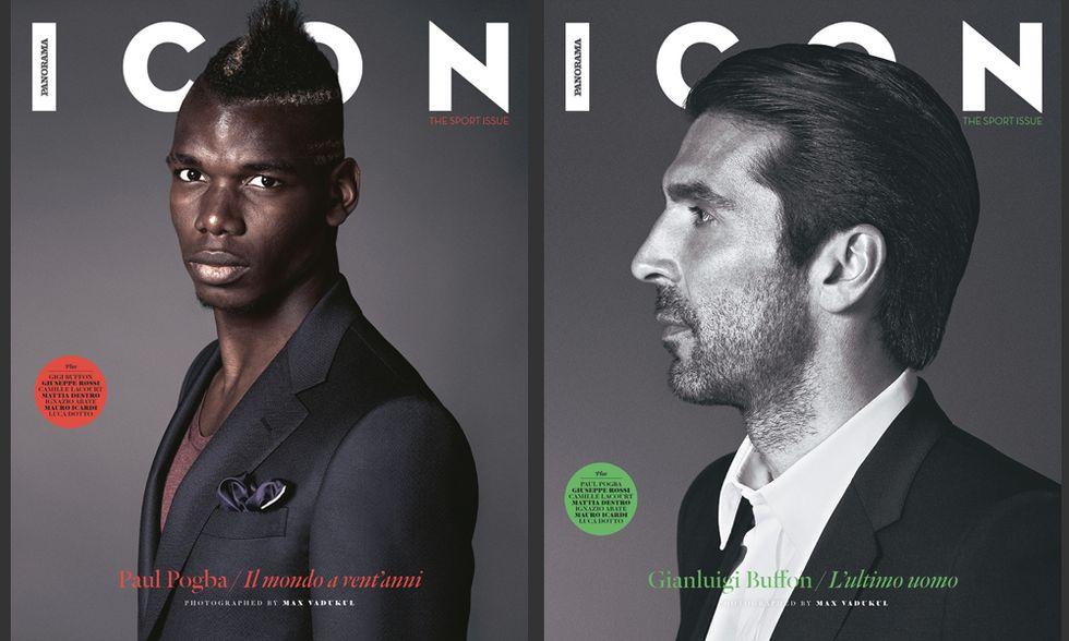 Gigi Buffon e Paul Pogba in copertina su Icon: un numero in bianco e nero