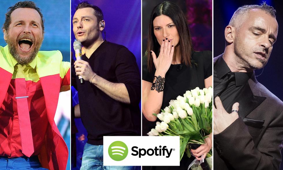 Spotify: i 50 cantanti italiani più amati