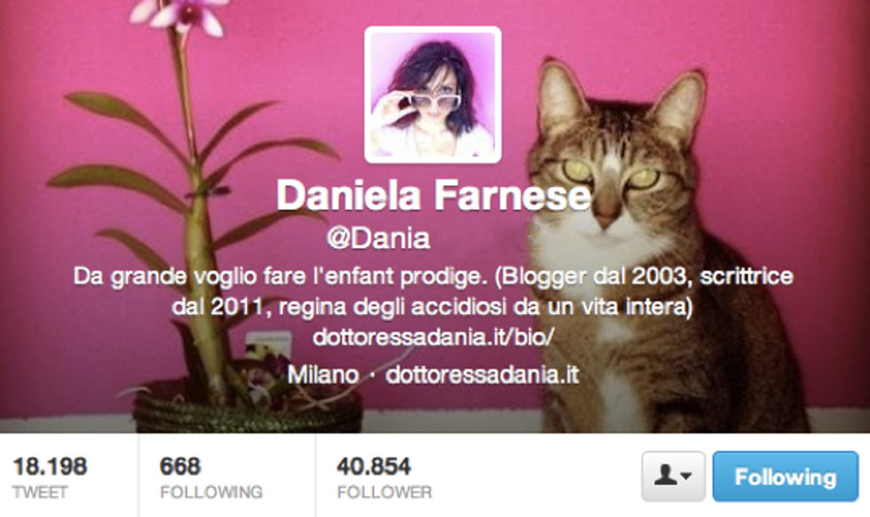 Dania Farnese: la differenza è che loro fanno i blogger, noi eravamo blogger