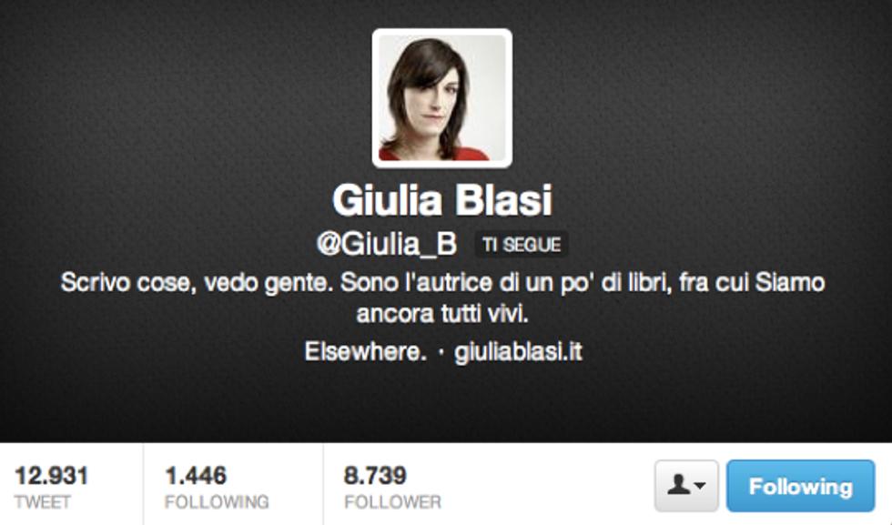 Giulia Blasi: Ecco perché non sai chi sono