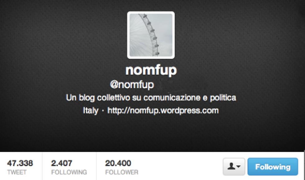 @Nomfup: Un quarantaepassenne, eternamente sospeso tra la comunicazione politica e il giornalismo