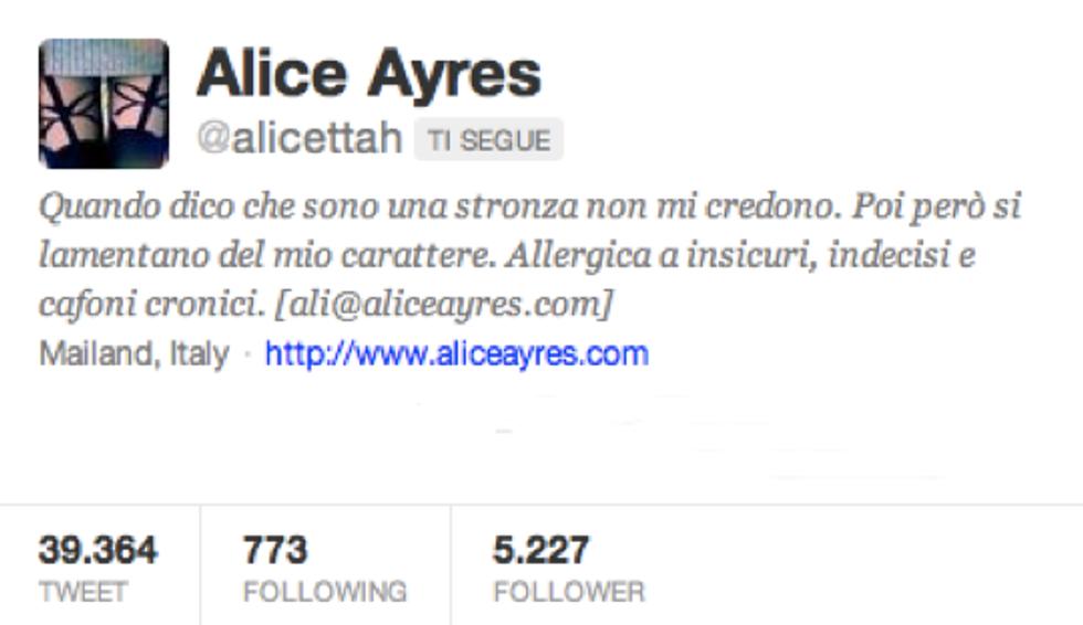 @Alicettah : sono una cacciatrice, non una ninfomane