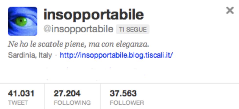 @insopportabile: mia moglie non capisce il perché di questa mia popolarità