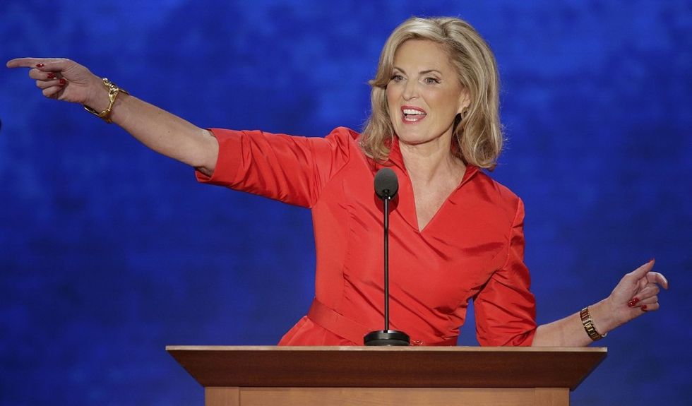 Ann Romney: the woman in red