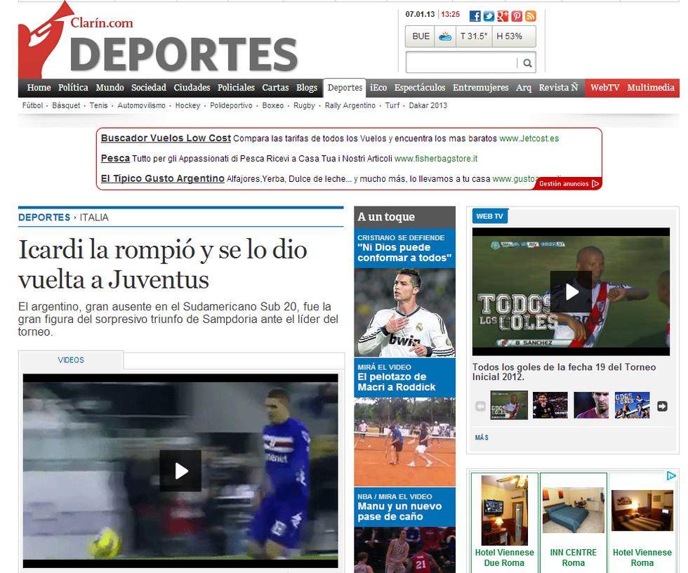 """""""El pibe y la Vecchia"""", la stampa argentina omaggia Icardi"""