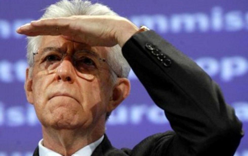 Il partito estero e la mosca al naso di Monti