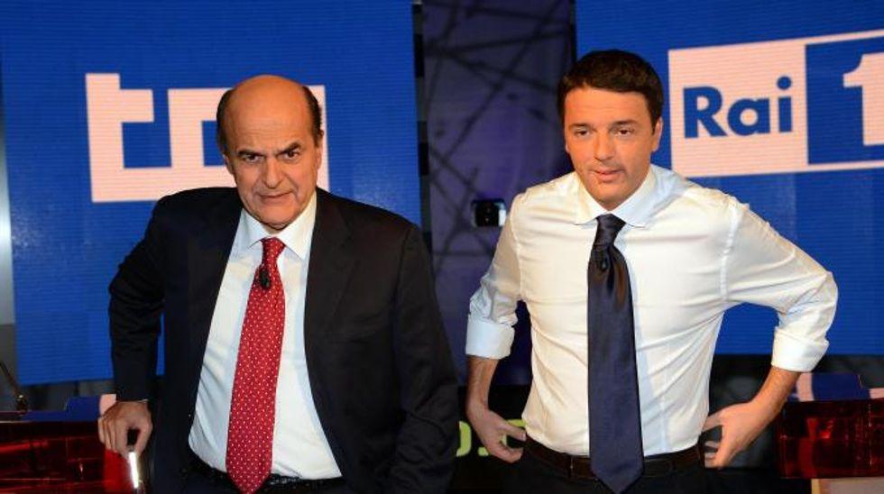 L'Italia di Bersani e quella di Renzi, incerte e divise