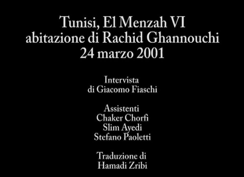 Tunisi, a tu per tu con Rachid Ghannouchi