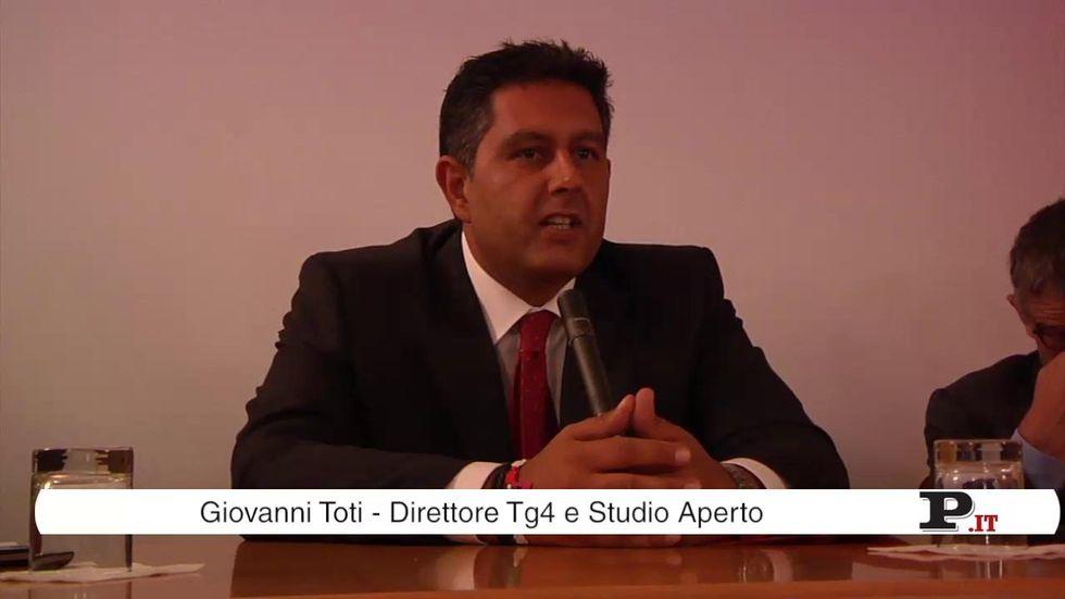 Giovanni Toti presenta il nuovo Tg4