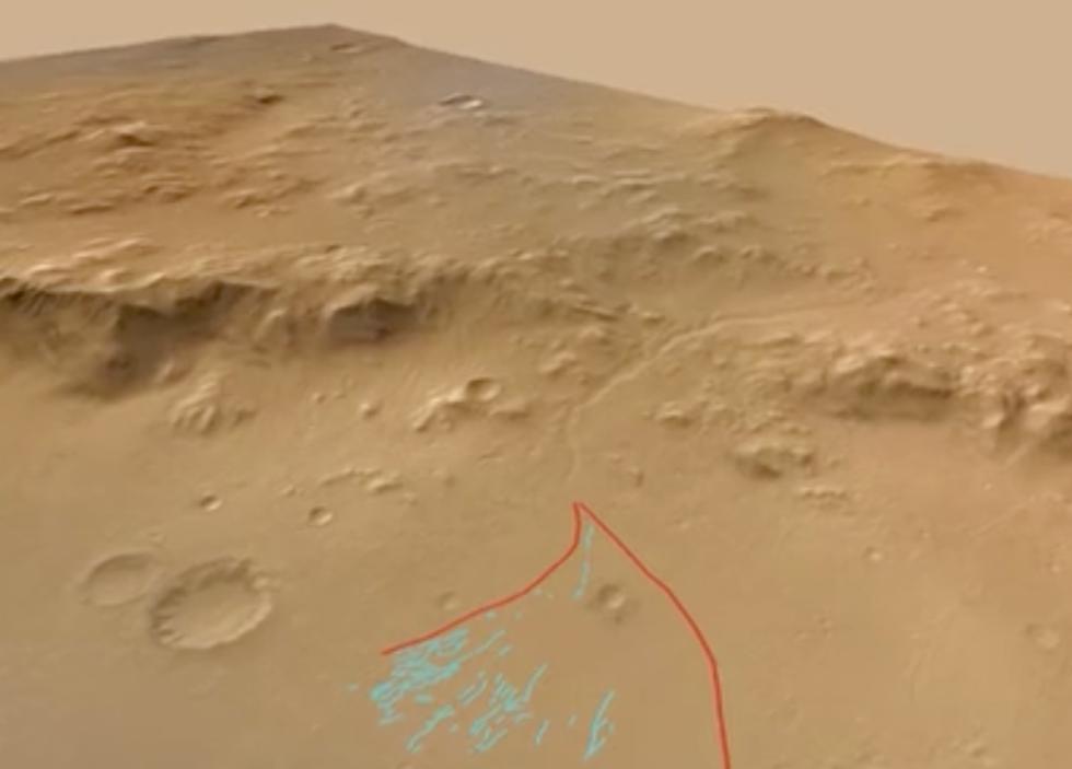 Curiosity scopre l'acqua su Marte