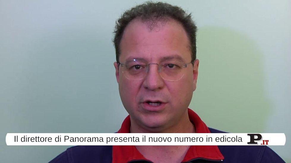 Il direttore Giorgio Mulè presenta il nuovo numero di Panorama, in edicola dal 9 agosto