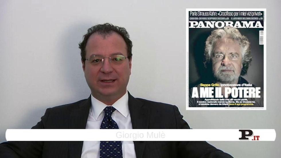 Il direttore Giorgio Mulè presenta il nuovo numero di Panorama, in edicola dall'1 novembre
