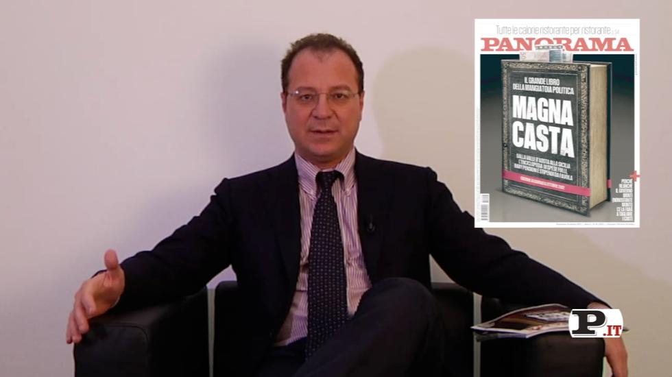 Il direttore Giorgio Mulè presenta il nuovo numero di Panorama, in edicola dal 4 ottobre