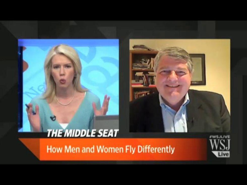 Questione di spazio: il comportamento di uomini e donne a bordo di un aereo