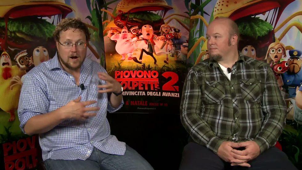 Piovono polpette 2, video-intervista ai registi Kris Pearn e Cody Cameron
