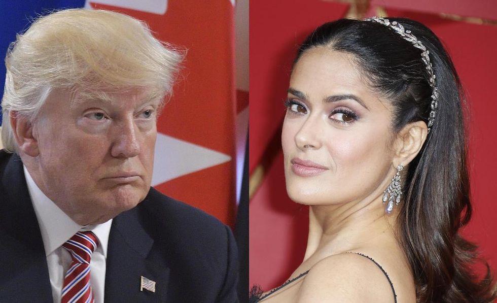 Donald Trump e Salma Hayek