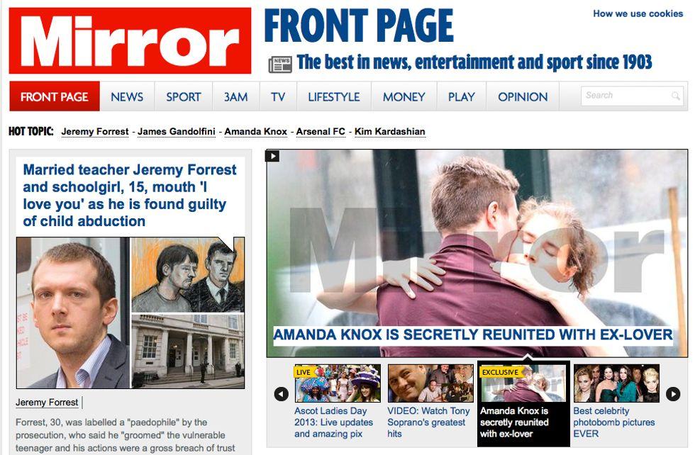 Amanda Knox e Raffaele Sollecito insieme a New York: l'esclusiva del Mirror