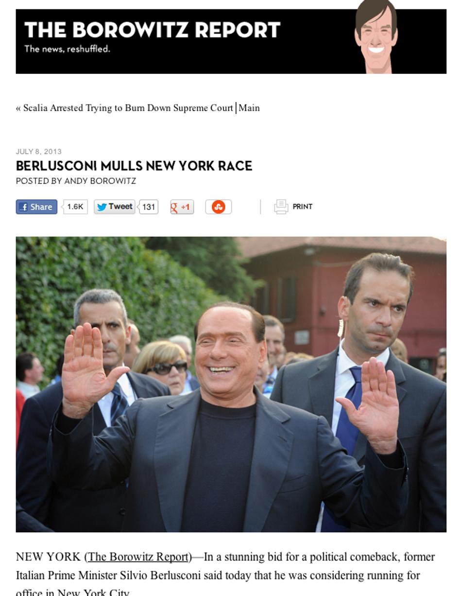 Pazza idea, Berlusconi sindaco a New York