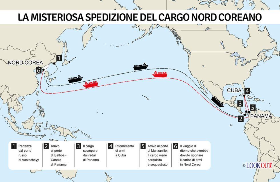 Una nave piena d'armi sulla rotta Cuba - Corea del Nord