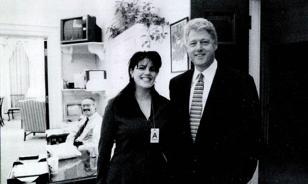 Monica Lewinsky con Bill Clinton