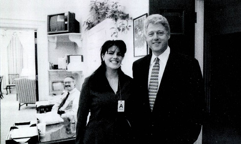 Monica Lewinsky con Bill Clinton