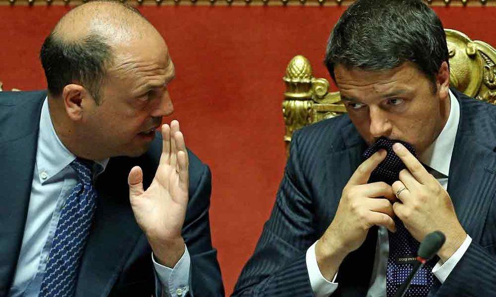 Renzi e Alfano, il lungo addio