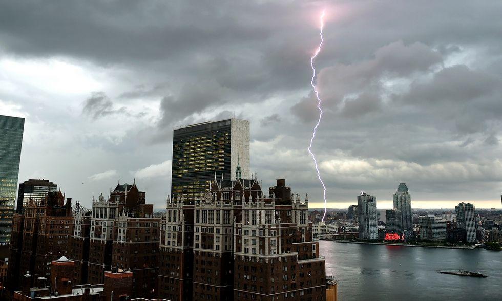 La tempesta di fulmini su New York