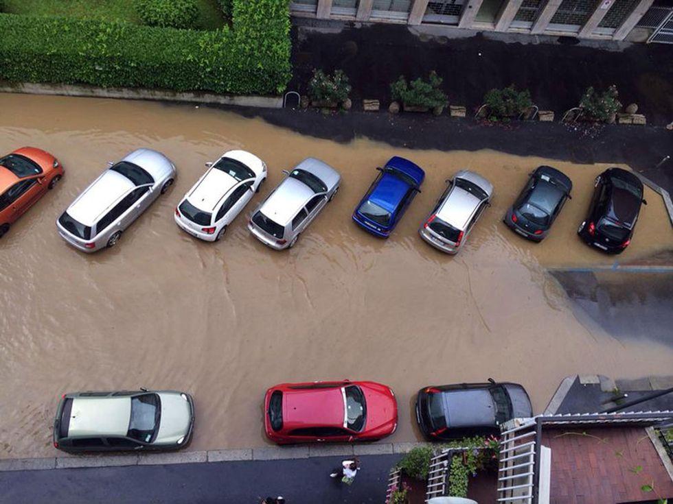 Maltempo: straripa anche il fiume Lambro