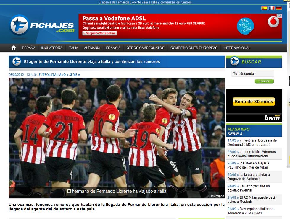 L'Inter su Llorente, il Manchester United vuole Vidal