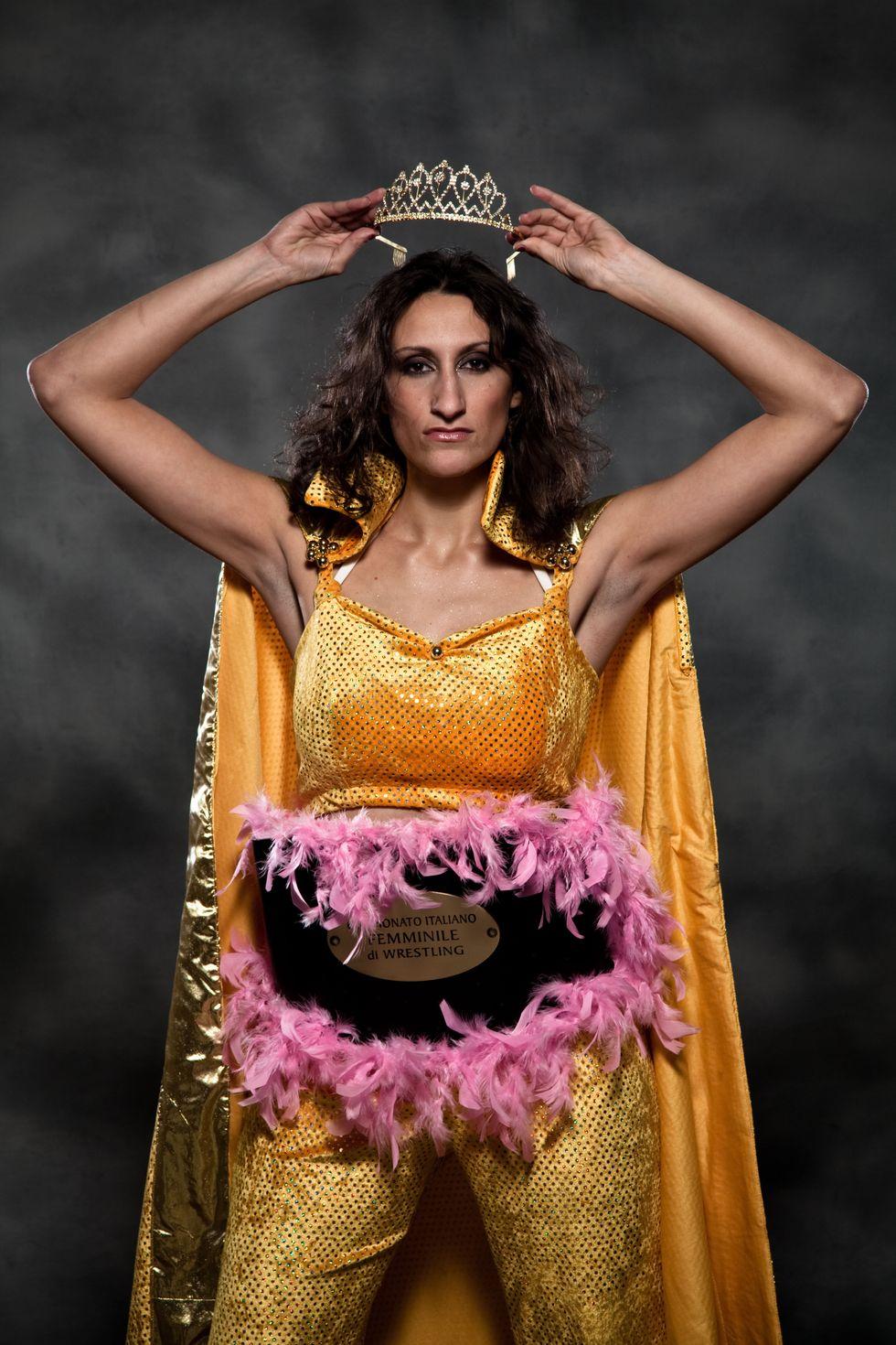 "Quenn Maya, la regina ""cattiva"" del wrestling italiano"
