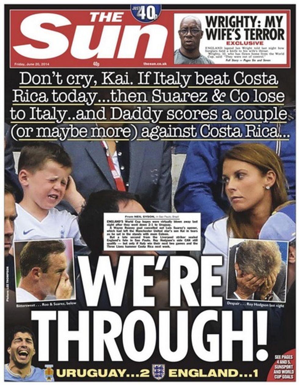 ... Il Sun pubblica il figlio di Rooney in lacrime (ma spera)