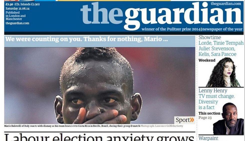 ... E i giornali inglesi se la prendono con Balotelli