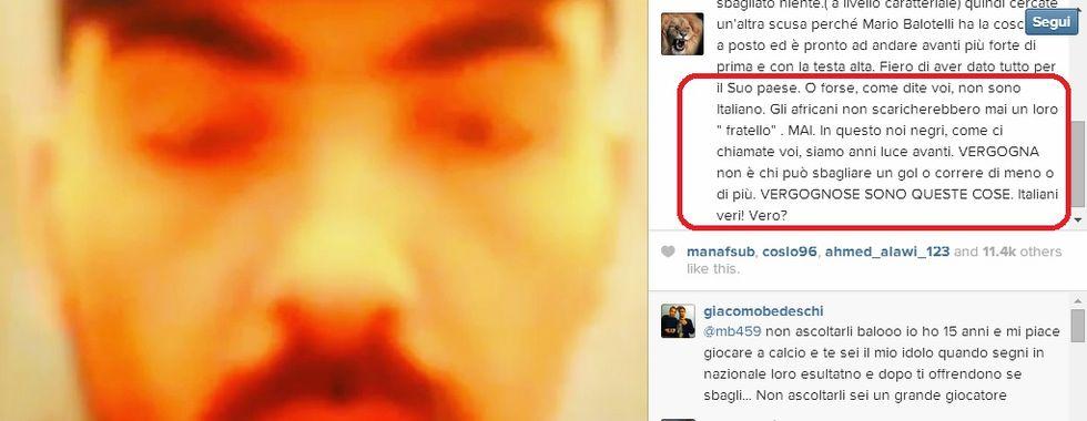 """Clamoroso Balotelli: """"Forse non sono italiano. Negri sono migliori"""""""
