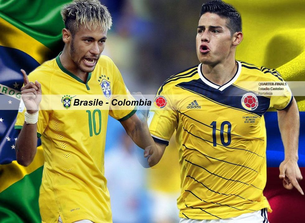 Brasile-Colombia è Neymar-James: fenomeni contro